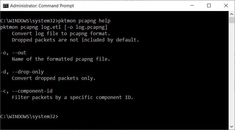 Convert ETL files into PCAPNG format