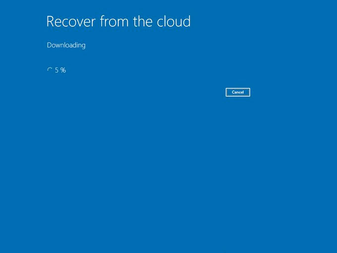 Recover from the cloud screen