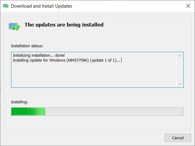 Windows 10 KB4577586 update