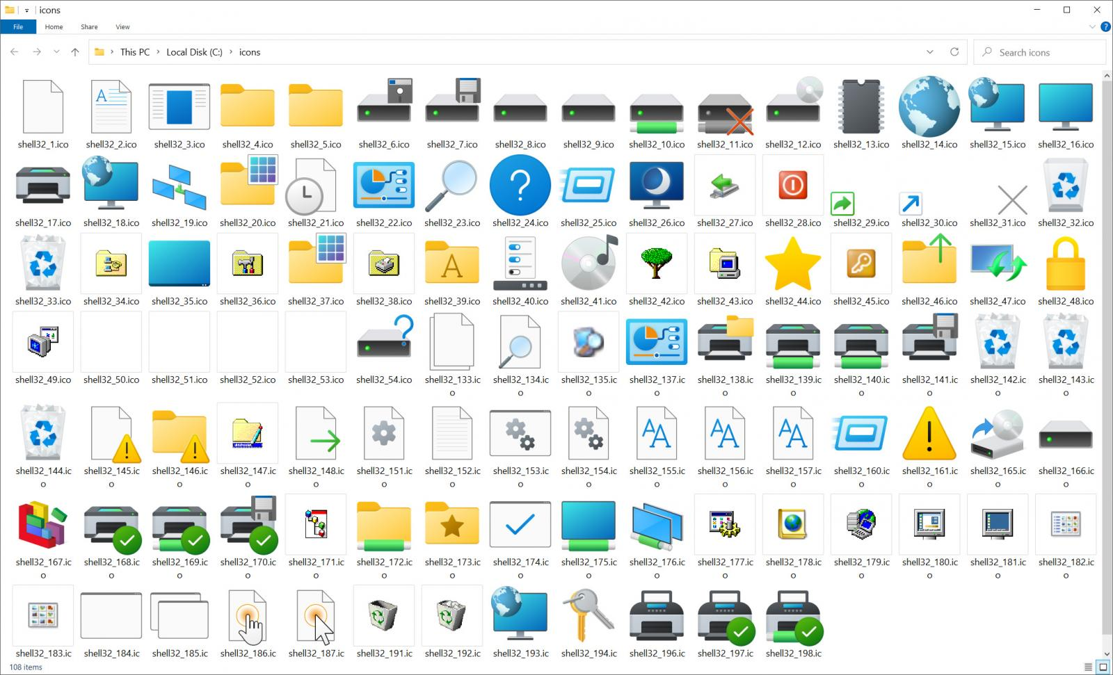 Upcoming Windows 10 Sun Valley icons