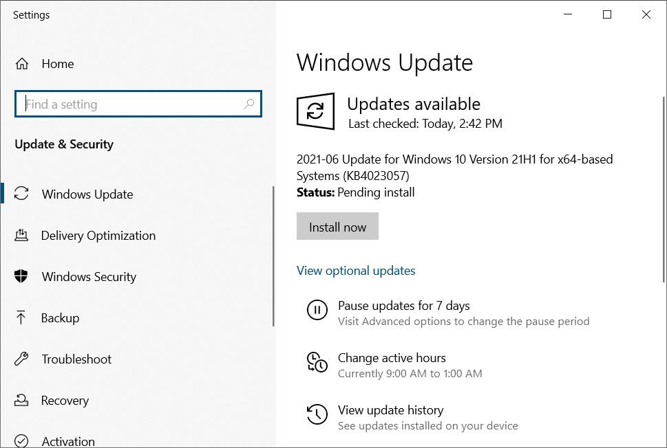 Windows 10KB4023057 update offered in Windows Update
