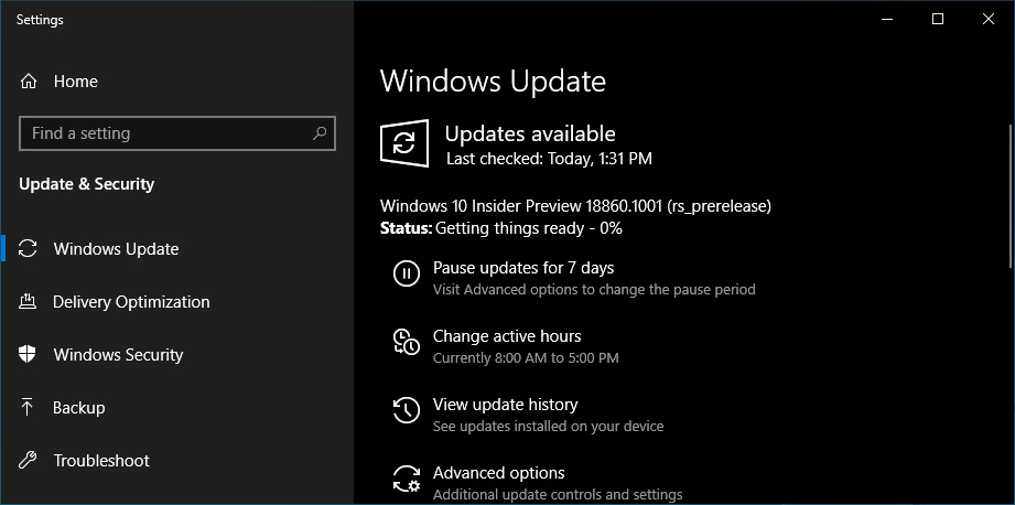 Microsoft Releases Windows 10 Build 18860 (20H1) With