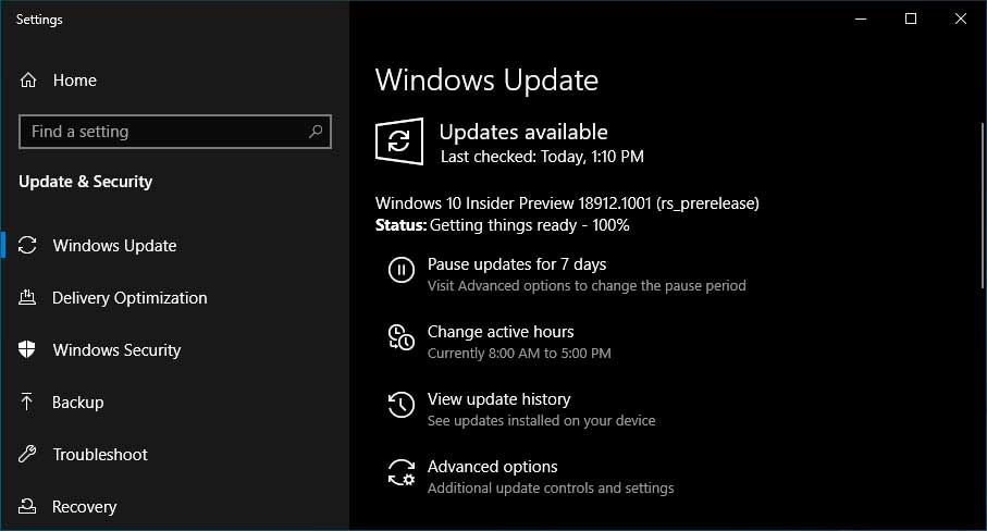 Windows 10 Insider Build 18912 Fixes win32k sys GSOD Crashes