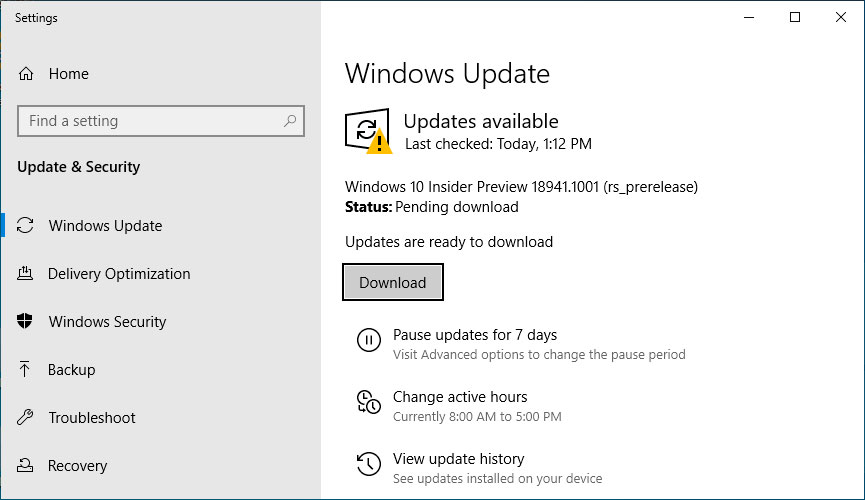 Windows 10 20H1 Build 18941 Fixes OneDrive Search Crashes