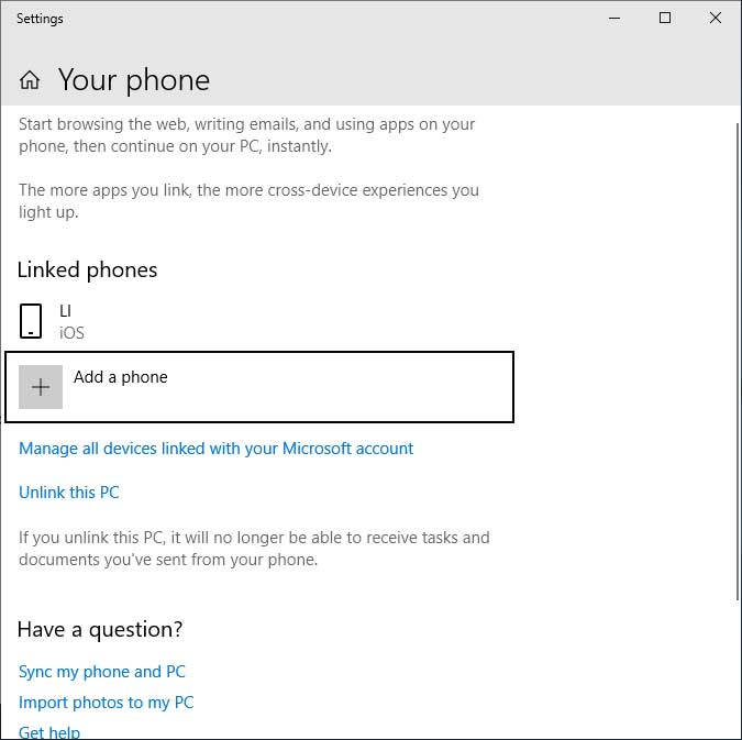 microsoft begins testing of the your phone app in windows 10