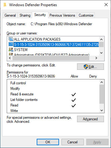 Windows OS Could Break If Capability SIDs Are Removed From Permissions