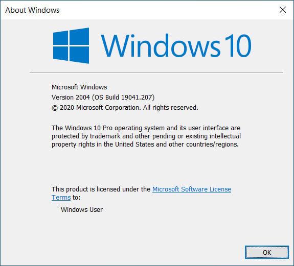 Windows 10 2004 19041.207