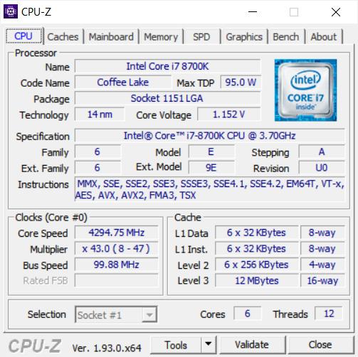 Usando CPU-Z para identificar su CPU