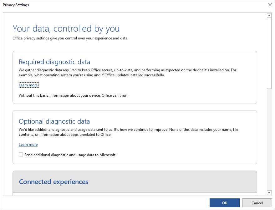Microsoft Office Asking Users to Send More Usage Data