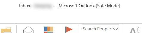 Microsoft Outlook started in Safe Mode