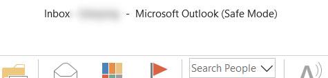 Microsoft Outlook se inicia en modo seguro