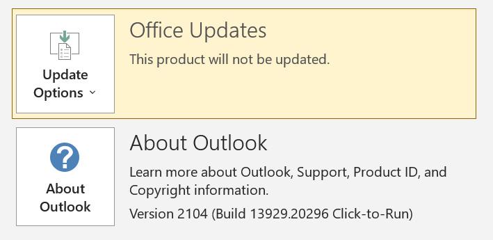 Las actualizaciones de Microsoft Office están deshabilitadas