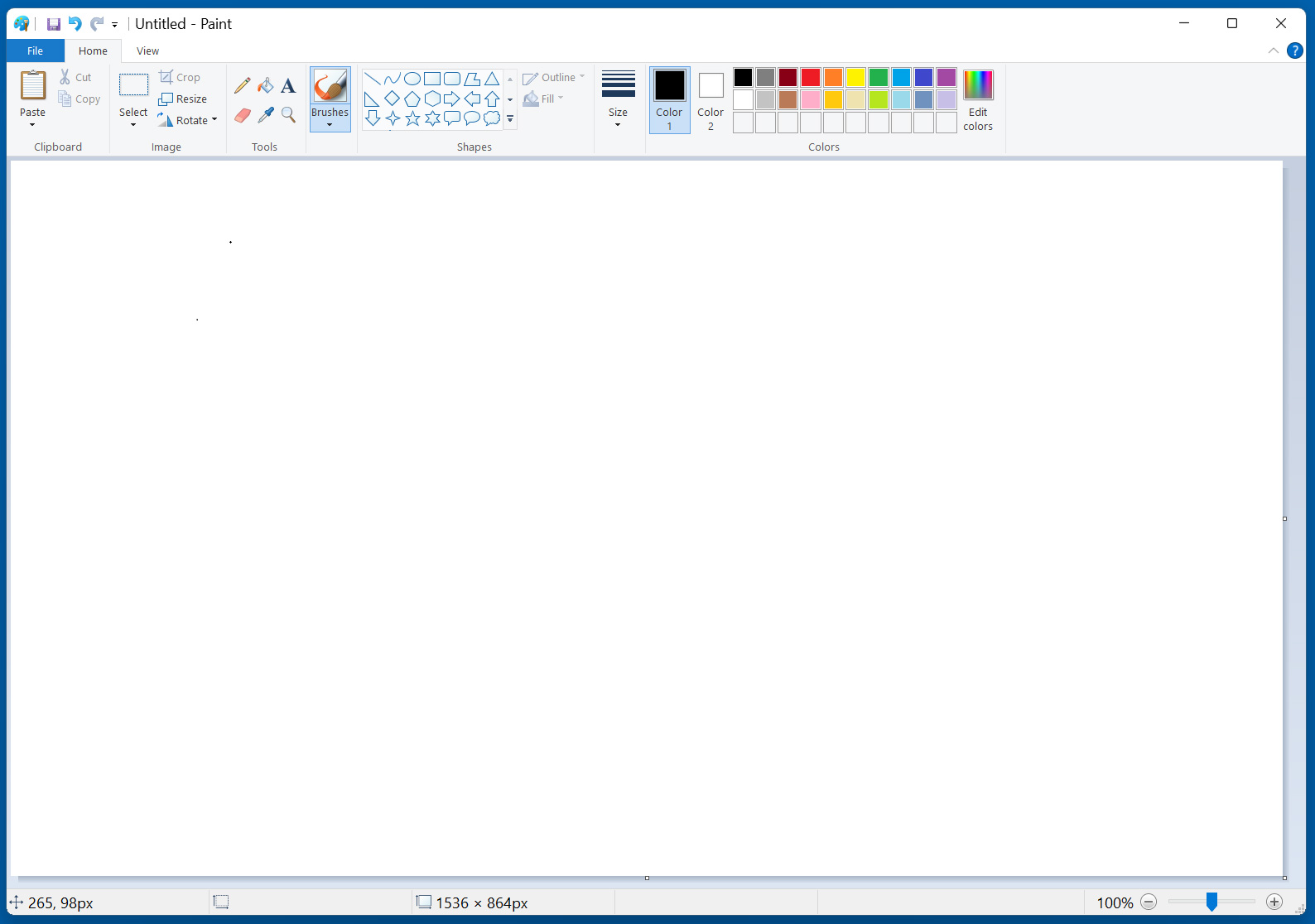 Current Microsoft Paint on Windows 11