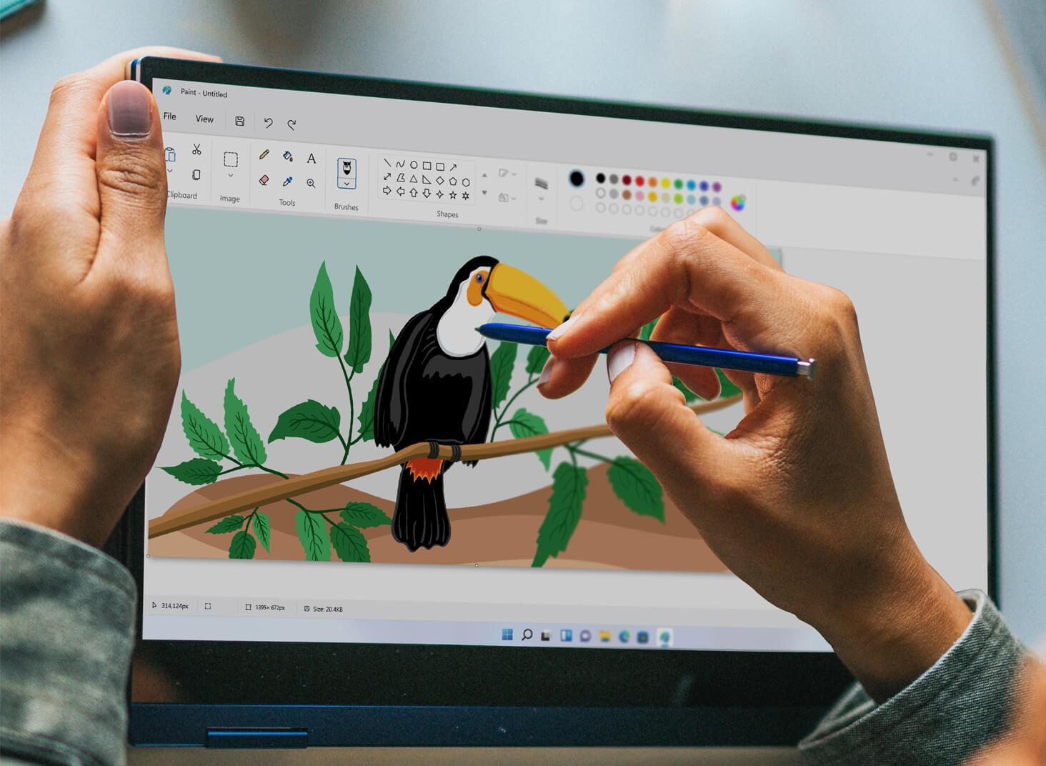 New Windows 11 Paint UI