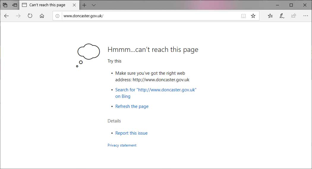 Some GOV UK Sites Unreachable Due to HSTS Changes in Windows
