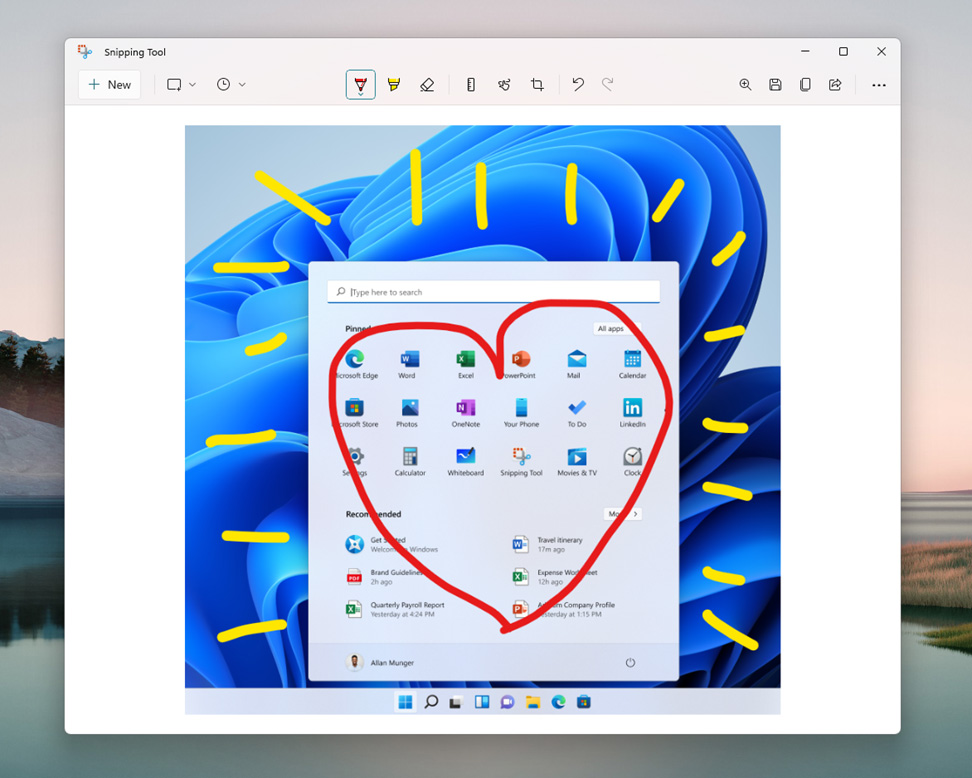 New Windows 11 Snipping Tool
