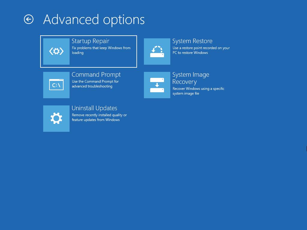Windows 11 recovery environment