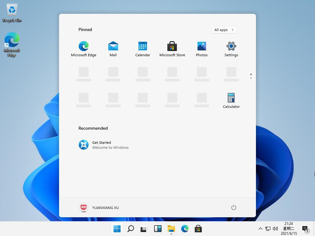 New Windows 11 Start Menu