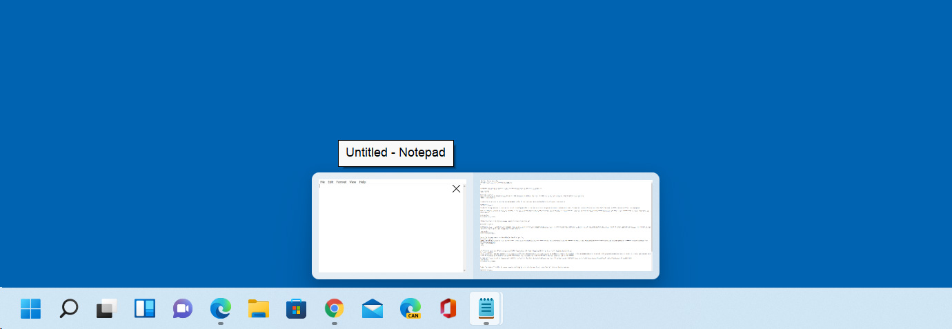 Windows 11 automatically combining open apps on the task bar