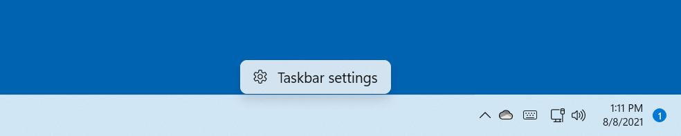Taskbar context menu removed