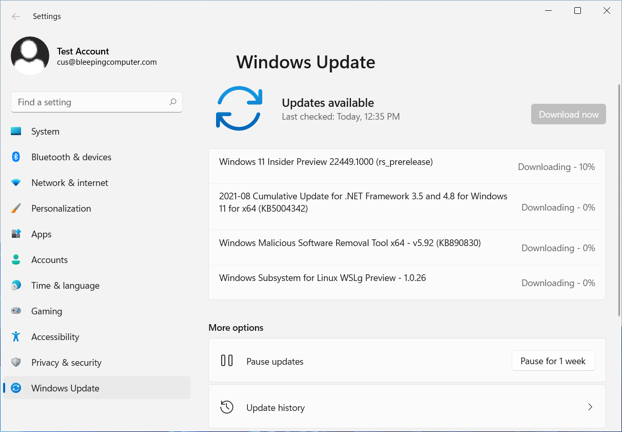 First Windows 11 Nickel build offered to Windows Insiders