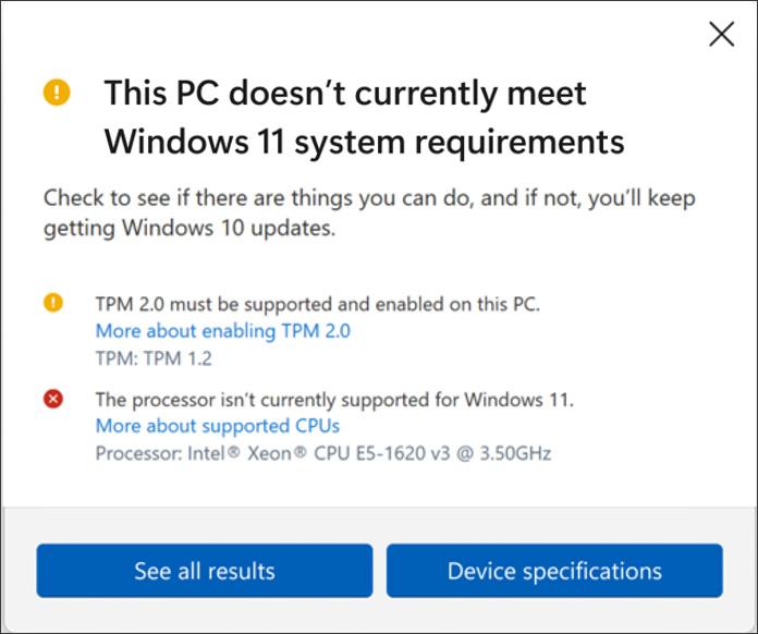 Windows 11 PC Health Check tool