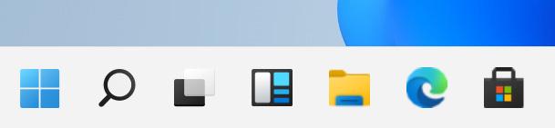 Large Windows 11 taskbar (TaskbarSi = 2)