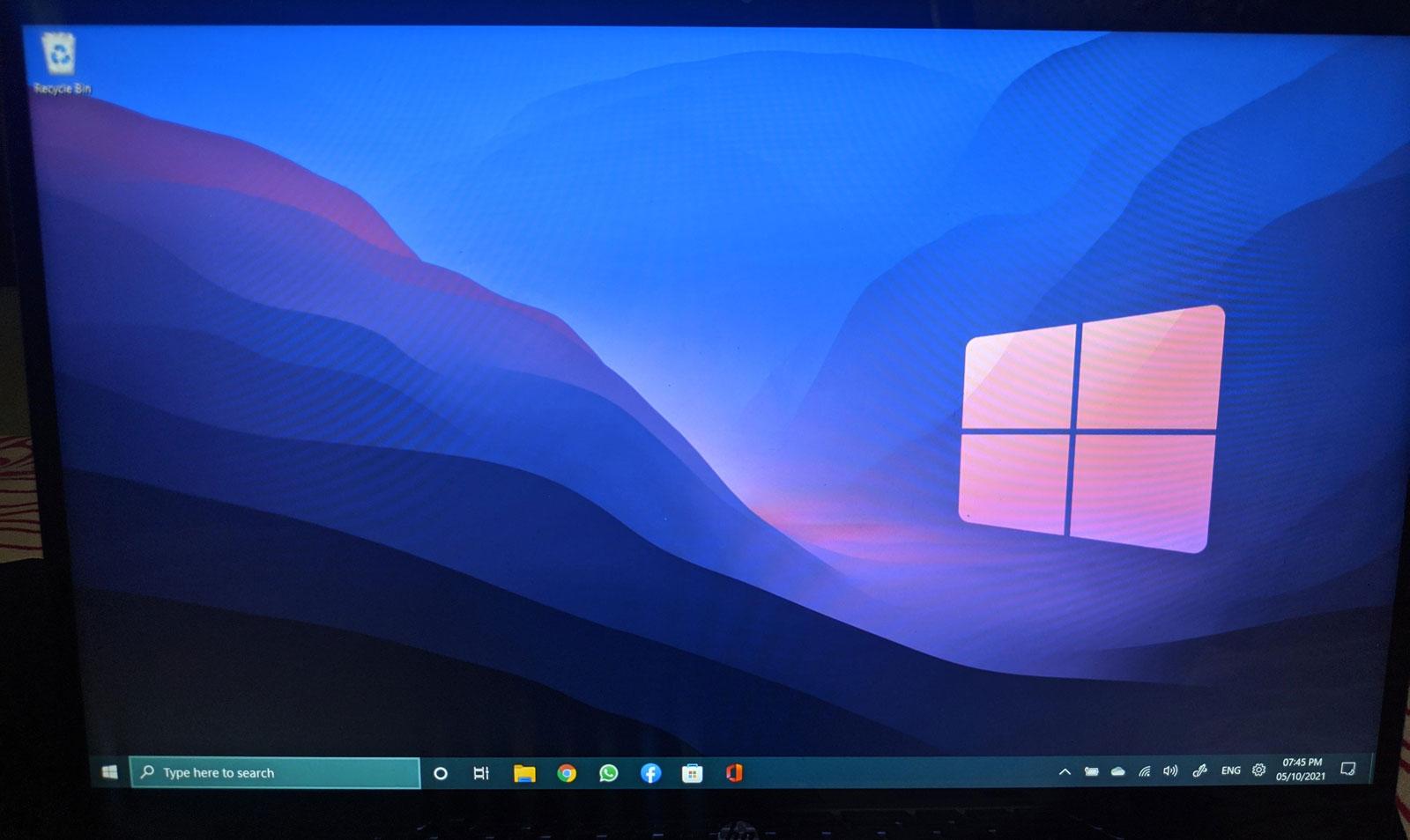 Windows 11'de Windows 10 görev çubuğu