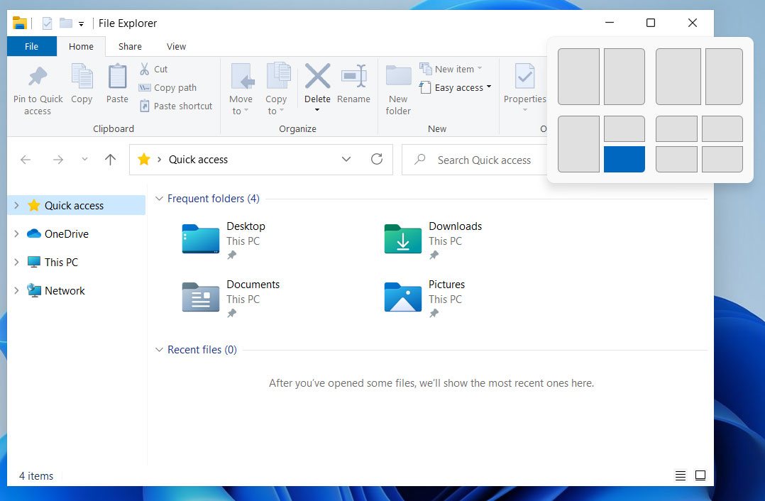 Redesigned Windows 11 Snapping Feature