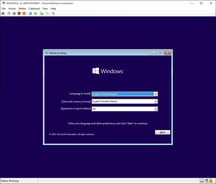 Installing Windows in Hyper-V