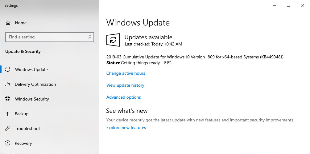 Windows 10 1809 Cumulative Update Released with Huge List of Fixes