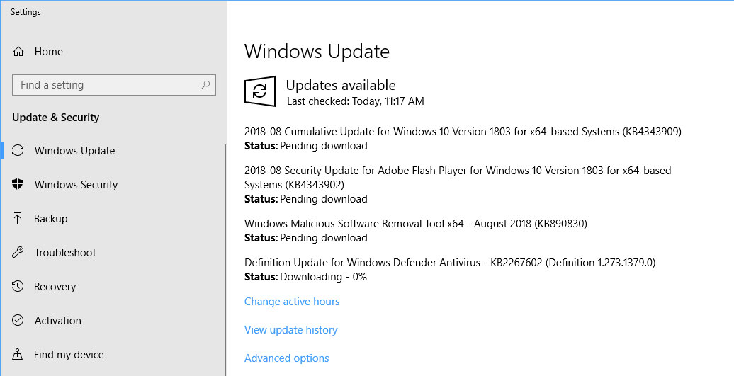 Microsoft Releases Windows 10 Cumulative Updates Kb4343909 And Kb4343897