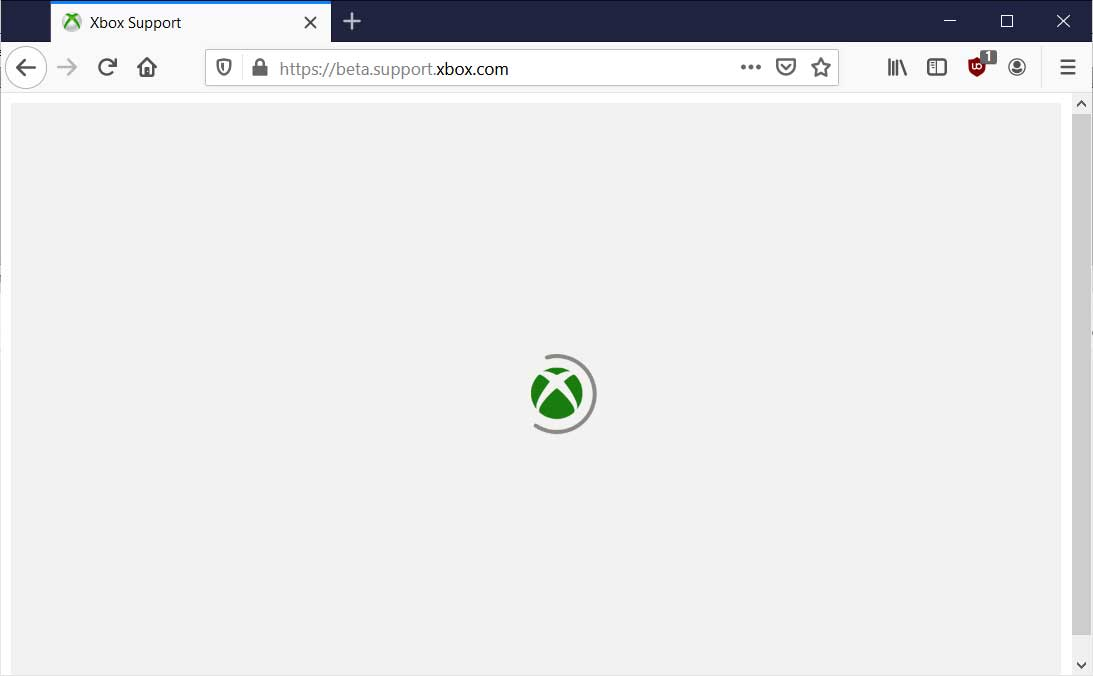 Support.xbox.com outage