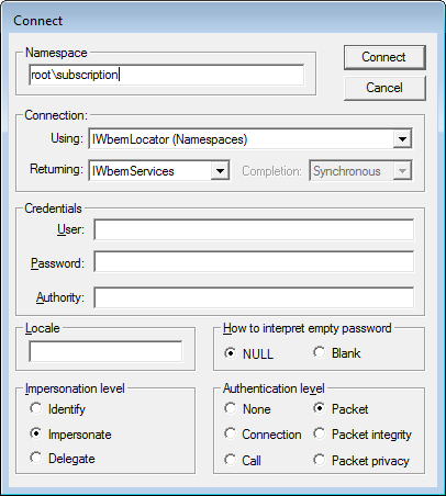 Connect to Namespace