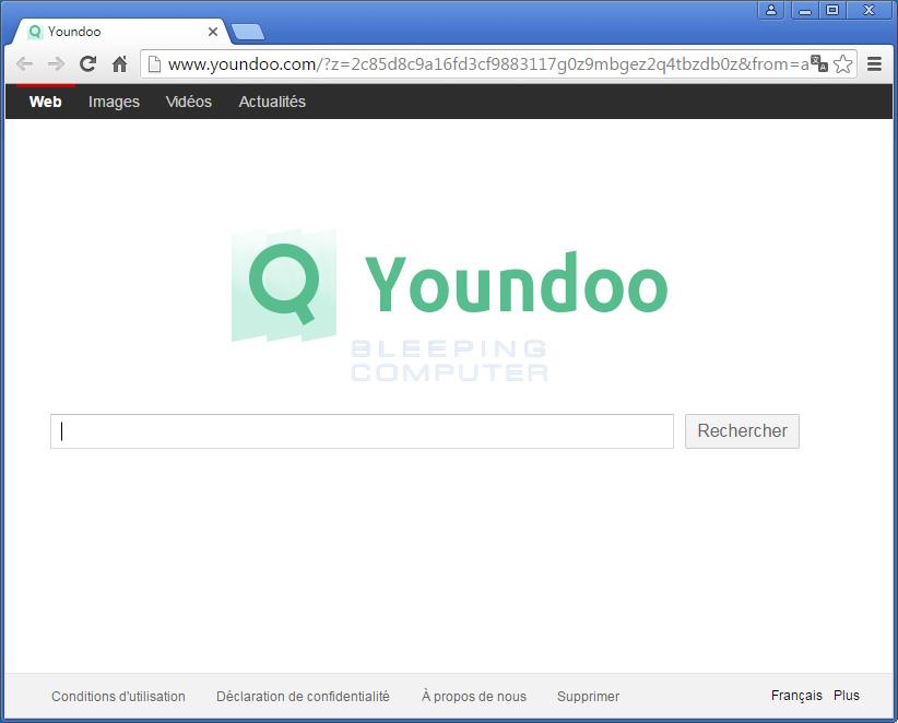 Youndoo Adware hijacks Browser Homepage using DLL Hijacking