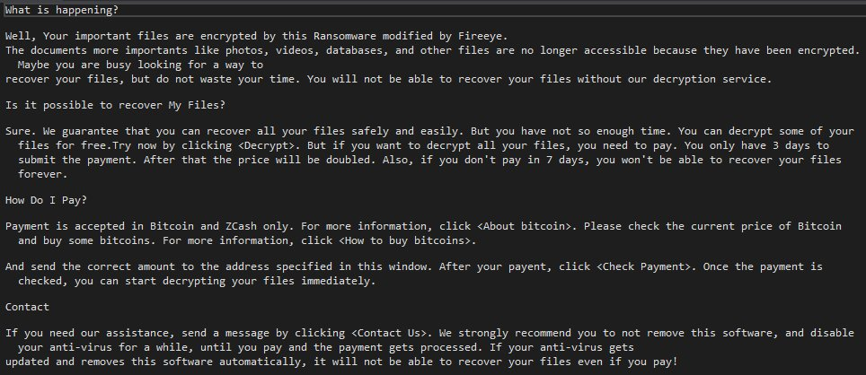 Fireeye-ransomware