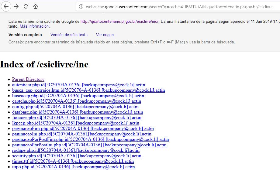 Web site do governo