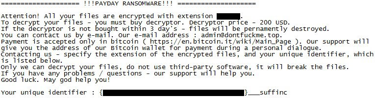 PayDay Ransomware