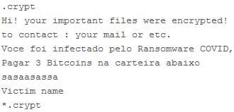 Ransomware COVID