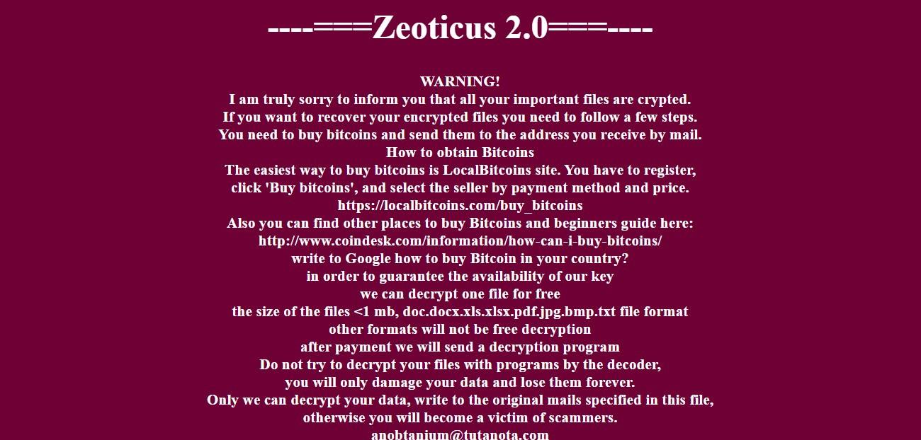 Zeoticus