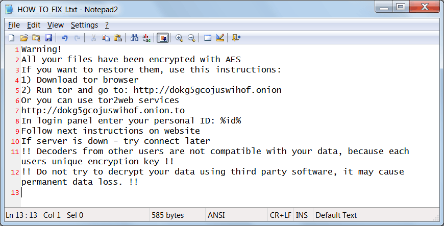 CrptXXX ransom note