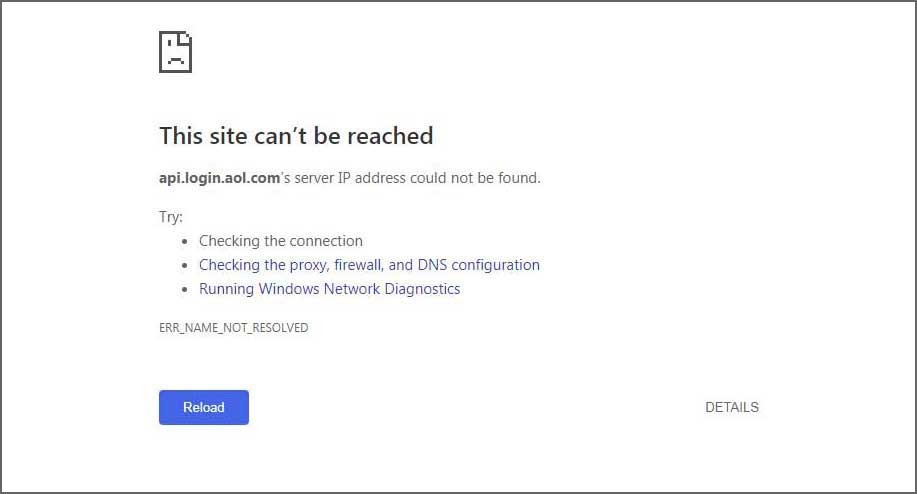 Yes! Aol Mail Is Down for the Past Two Hours