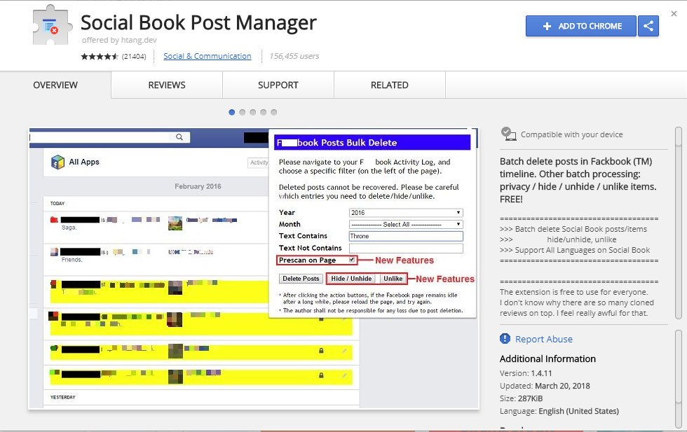 Social Book Post Manager Extension