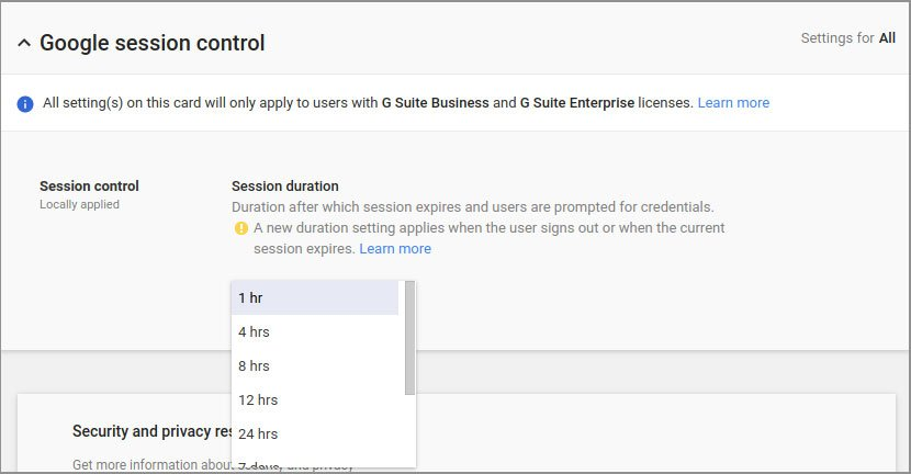 Google G Suite Admins Can Now Customize Session Durations