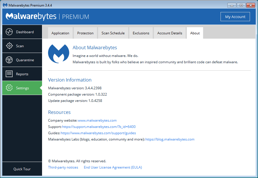 MalwareBytes 3.4.4 Released With User Interface & Engine ...