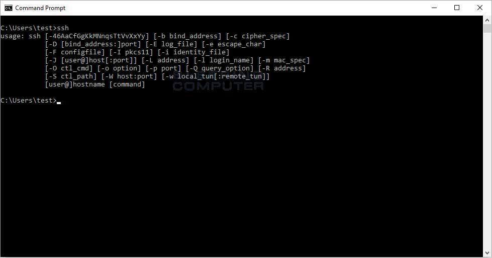 What significance does the user/host at the end of an SSH ...