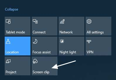 Screen Clip Feature Activated