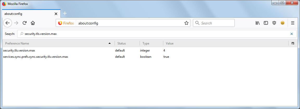 TLS 1.3 Enabled in Firefox