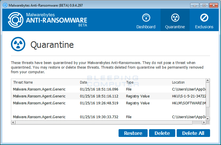 Quarantine Screen