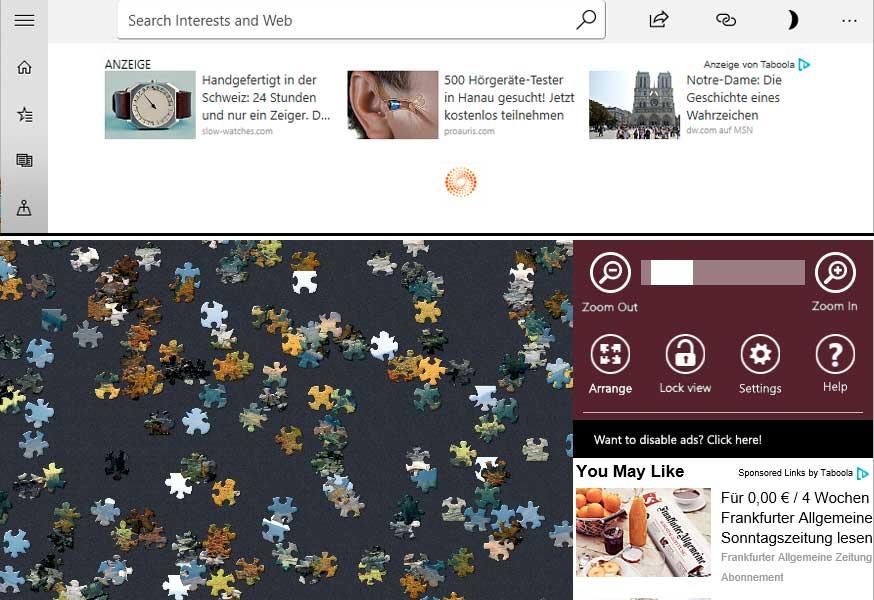 German Ads in Microsoft News and Microsoft Jigsaw